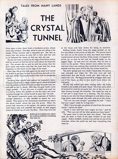 Scenes from the Italian folk-tale The Crystal Tunnel.