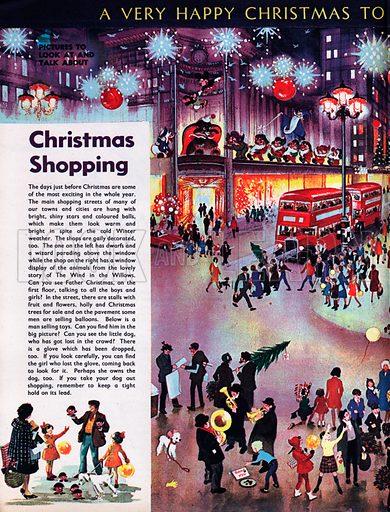 Christmas shopping.