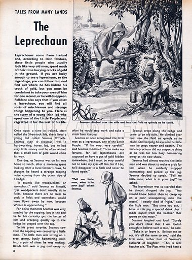 Scenes from the Irish folk-tale The Leprechaun.