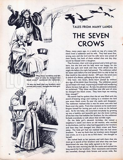 Scenes from the North European fairy-tale The Seven Crows.