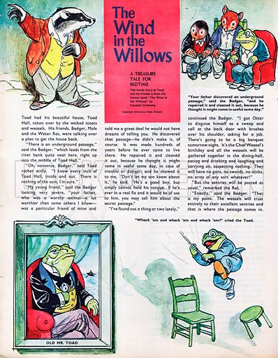 The Wind in the Willows - an abridgement of Kenneth Grahame's famous book which largely tells the story of Toad.