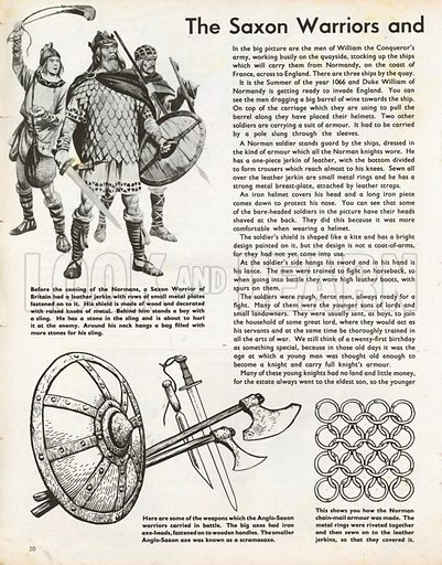 The Wonderful Story of Britain: The Saxon Warriors and Norman Invaders. Saxon warriors and their weapons, and the construction of Norman chain-mail.