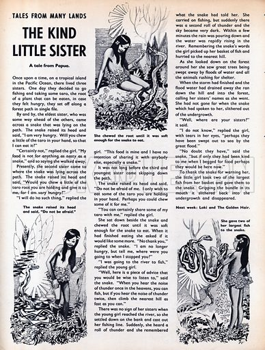 Scenes from the Pacific folk-tale The Kind Little Sister.