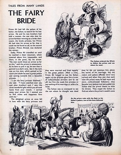 Scenes from the Middle Eastern folk-tale The Fairy Bride.