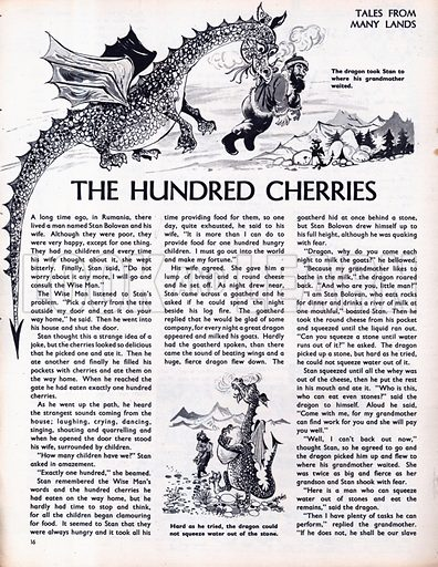 Scenes from the Rumanian folk-tale The Hundred Cherries.