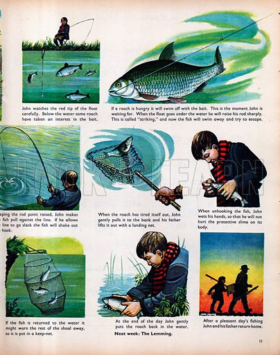 John goes fishing.