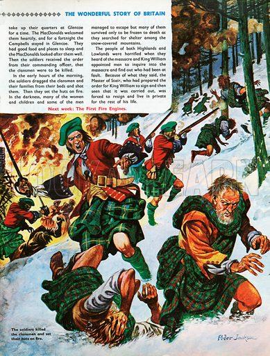The Wonderful Story of Britain: The Old Chief of Glencoe. The Massacre of Glencoe.