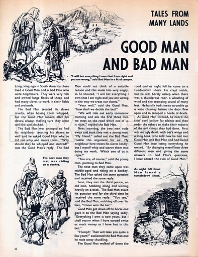 Scenes from the South American folk-tale Good man and Bad man.
