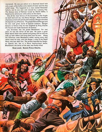 The Wonderful Story of Britain: When Pirates Sailed the Seas. Blackbeard and his pirates attack.