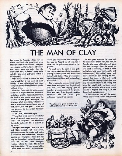 Scenes from The Man of Clay, a legend from the Norsemen.