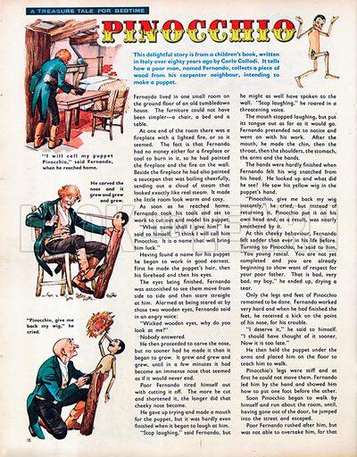 An abridged version of Pinocchio by Carlo Collodi.