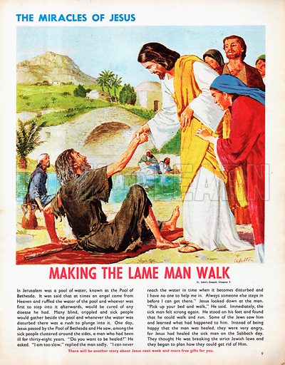 The Miracles of Jesus: Making the Lame Man Walk.