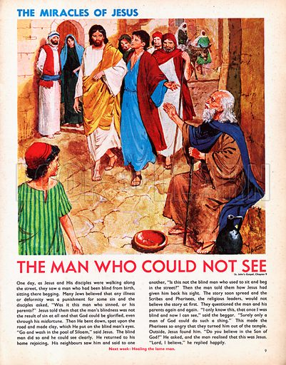 The Miracles of Jesus: The man who could not see.