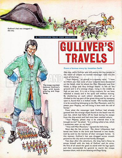 An abridged version of Gulliver's Travels by Jonathan Swift.