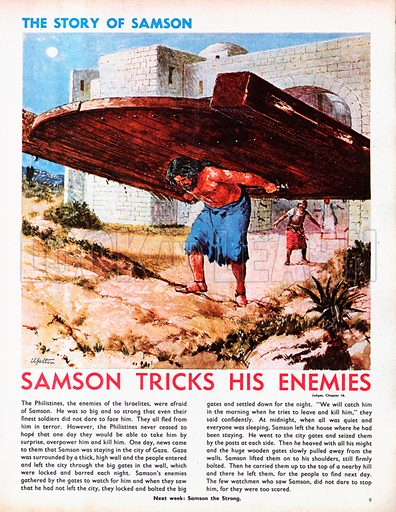 The Story of Samson retold, taken from The Bible, The Book of Judges, Chapters 14-16.