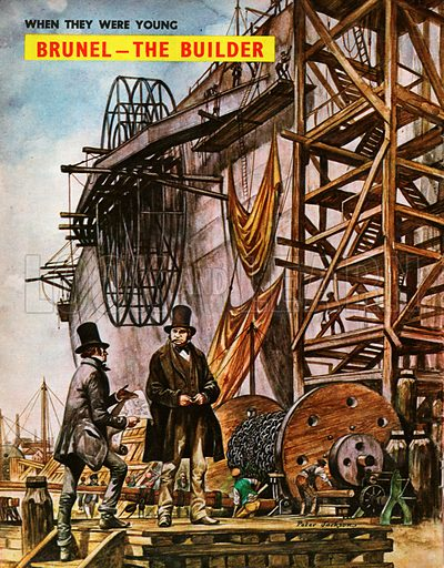 When They Were Young: Isambard Kingdom Brunel - the Builder. Brunel follows the progress of his ambitious design for the largest steam ship in the world, the Great Eastern, as she is being built in the shipyard.