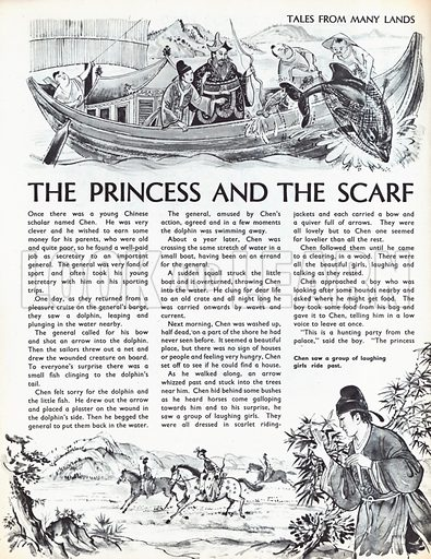 Scenes from The Princess and the Scarf, a folk-tale from China.