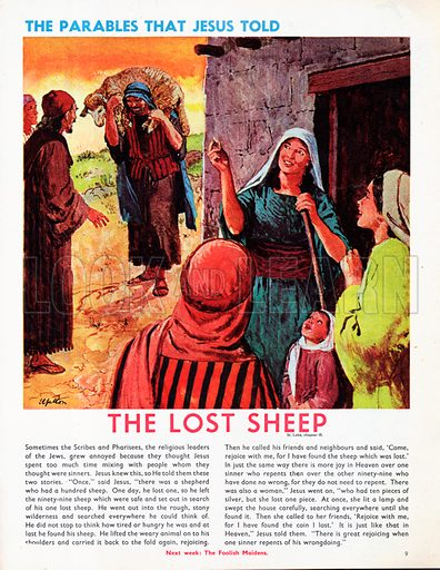 The Parables that Jesus told, taken from St Luke's Gospel in The Bible: The Lost Sheep.