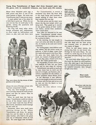 When They Were Young: The Boy King of Egypt, Tutankhamen. Three scenes from the boyhood of Tutankhamen.