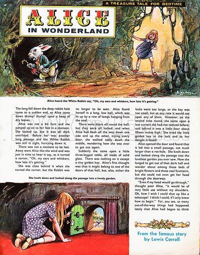 An abridged version of Alice in Wonderland by Lewis Carroll.
