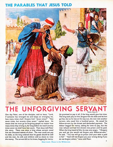 unforgiving servant, picture, image, illustration