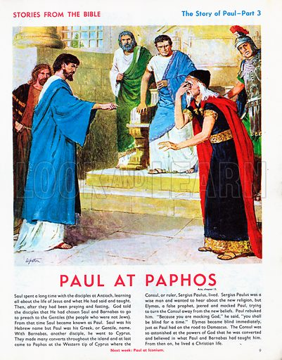 The story of Paul retold, taken from The Acts of the Apostles in The Bible.