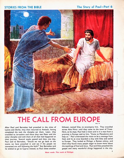 The story of Paul retold, taken from The Acts of the Apostles in The Bible: The Call from Europe.