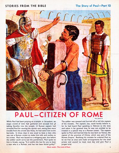 The story of Paul retold, taken from The Acts of the Apostles in The Bible: Paul - Citizen of Rome.