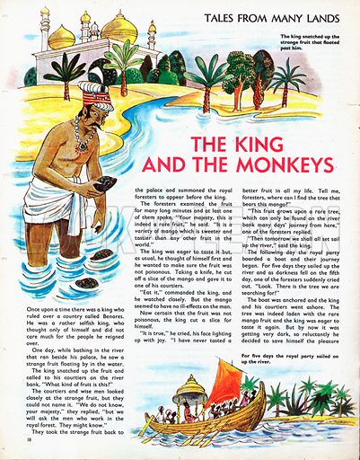 Scenes from The King and the Monkeys, a legend from India.