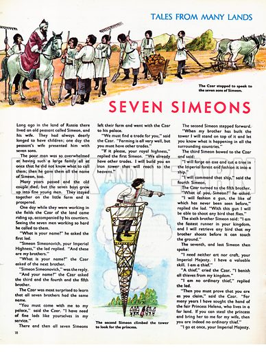 Scenes from Seven Simeons, a folk-tale from Russia.