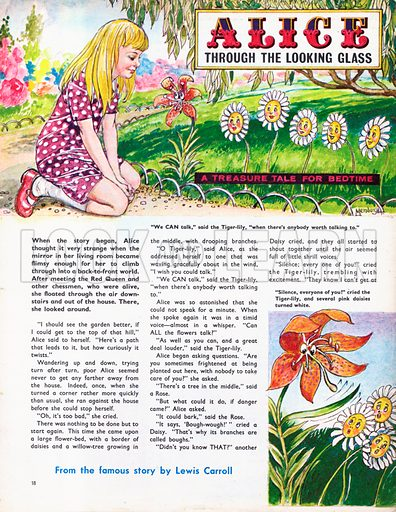 An abridged version of Alice through the Looking Glass by Lewis Carroll.