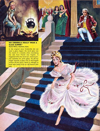 7475dfb5d71 Did Cinderella really wear a glass slipper  She did in English versions of  the fairy