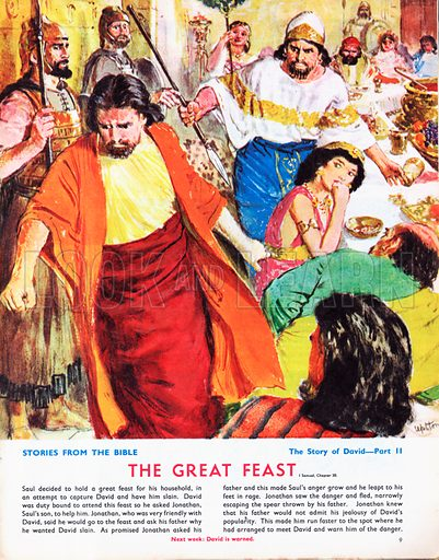 The Story of David retold from the First Book of Samuel in the Bible: The Great Feast.