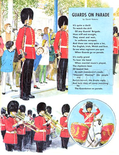 Guards on Parade. Poem by David Roberts.