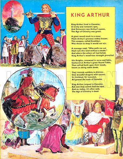 King Arthur. Poem. The story of King Arthur of Camelot.