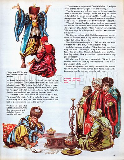 Scenes from the Arabian folk-tale, Abdullah the Wise One.