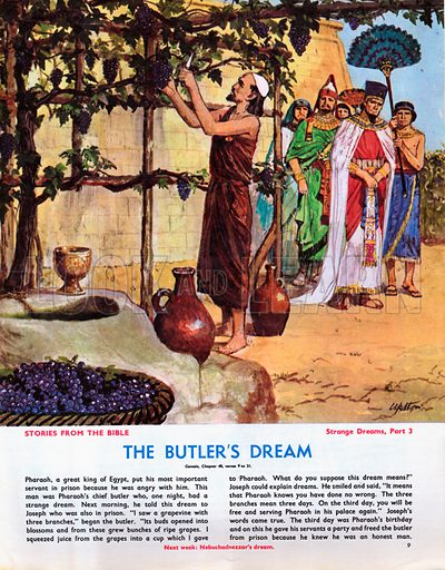 Strange Dreams from the Bible: The Butler's Dream.