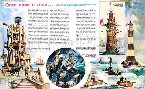 Once Upon a Time... lighthouses. From Treasure no. 307.