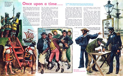 Once Upon a Time… ships, sailors and the Royal Navy. From Treasure no. 308.