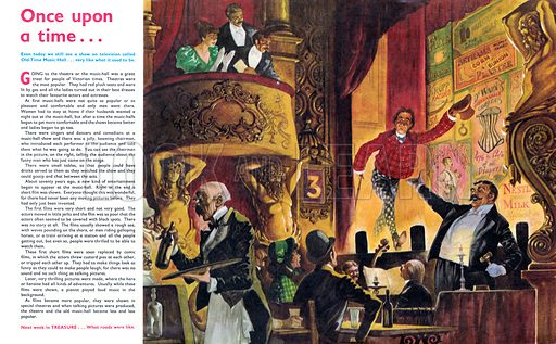 Once Upon a Time… Music Hall. From Treasure no. 309.