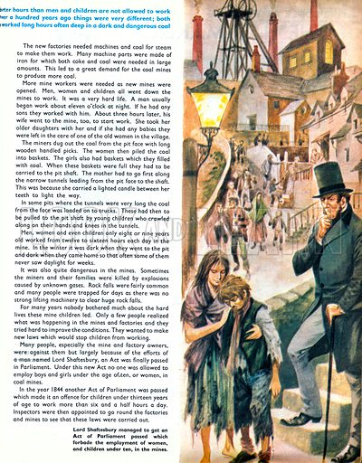 Once Upon a Time… child labour and how Lord Shaftesbury put through an Act of Parliament to stop the employment of children under the age of ten. From Treasure no. 317.