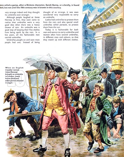 Once Upon a Time… The umbrella from Chinese days to its arrival in London, where Jonas Hanway was pelted by angry sedan porters. From Treasure no. 321.