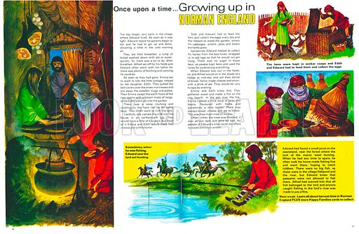 Growing Up in Norman England. A peasant's day. From Treasure no. 327.
