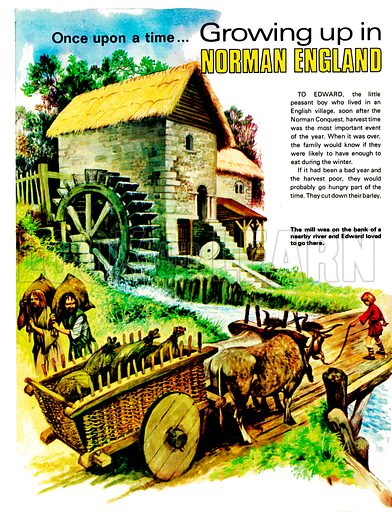 Growing Up in Norman England. The working of a Norman mill. From Treasure no. 328.