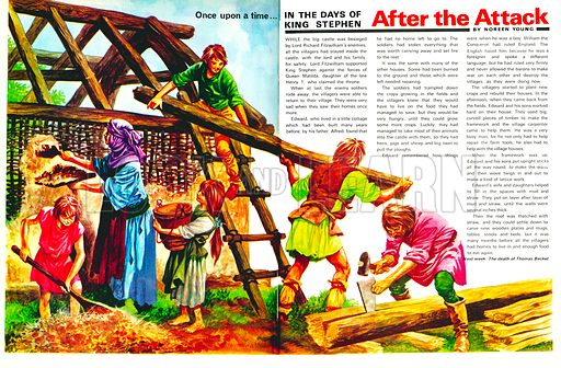 Once Upon a Time: In the Days of King Stephen - After the Attack.