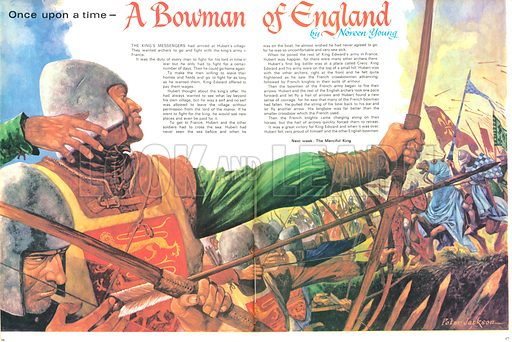 Once Upon a Time: A Bowman of England. The Battle of Crecy in France was a great victory for King Edward, aided greatly by the ranks of English longbowmen.