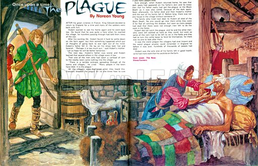 Once Upon a Time... The Plague. The Black Death. From Treasure no. 351.