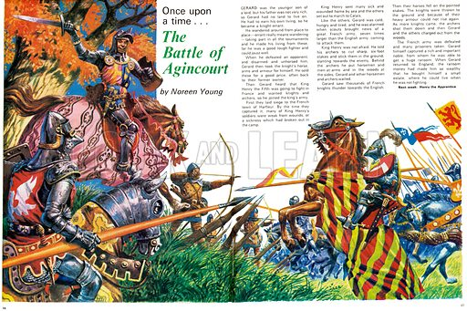 Once Upon a Time... The Battle of Agincourt. From Treasure no. 358.