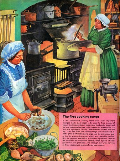 The first cooking range. The cooking range introduced, in the eighteenth century, led to important changes in the way we ate food.