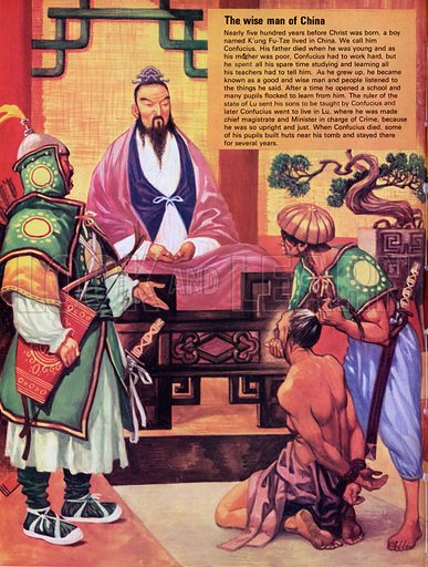 The Wise Man of China. Nearly 500 years B.C., a boy named K'ung Fu-Tze lived in China. Today he is remembered as Confucious.